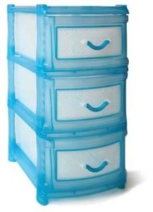 комод пластмас голубой