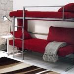 Бордовый диван трансформер