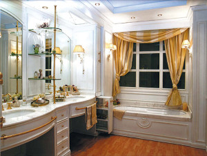 итальянская для ванной со шторами