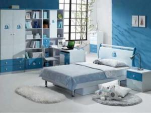 голубая мебель для мальчика подростка