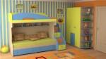 Кровать чердак с диваном внизу детская 2