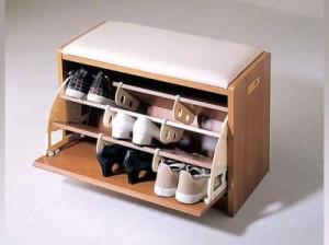 открытая тумбочка для обуви