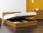 двуспальная с подъемным механизмом дерево