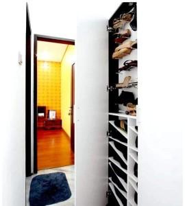 белый шкаф для обуви