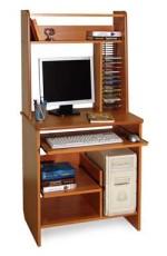 компьютерный маленький стол завален хламом